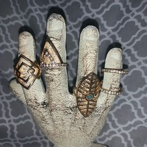4 gold rings. Size 5